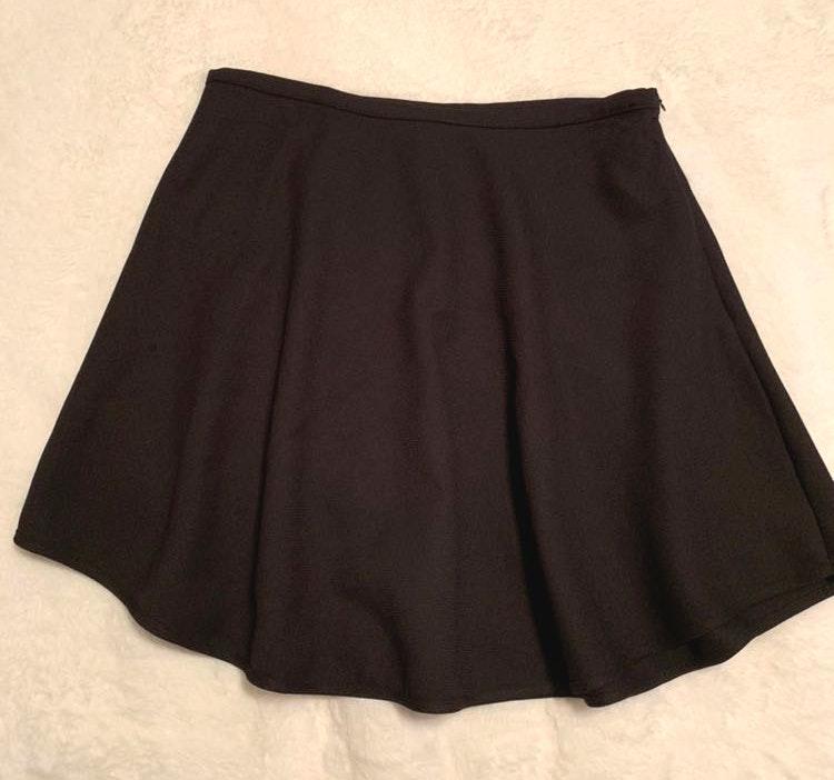 Umgee Black Circle Mini Skirt