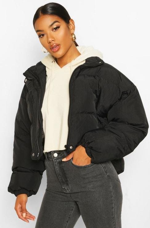 Boohoo Black Puffer Jacket