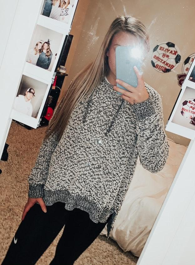 Boutique popcorn sweater