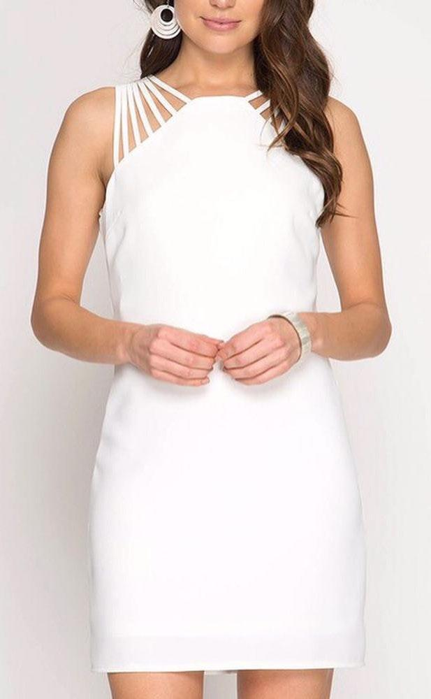 She & Sky White Dress