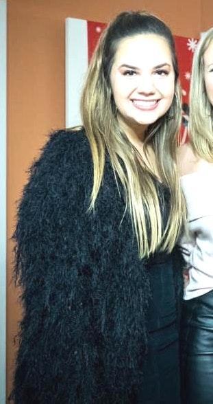 Raga Black Furry/fuzzy Jacket
