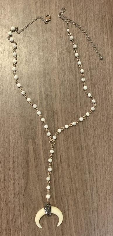 cream horn necklace