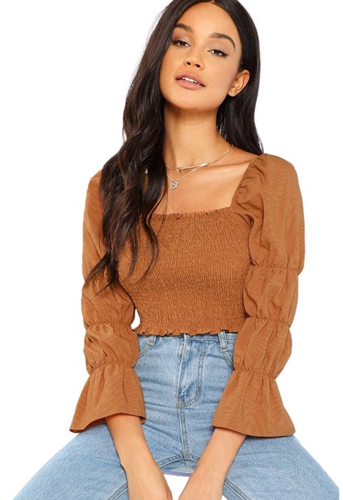Puffy Sleeve Top