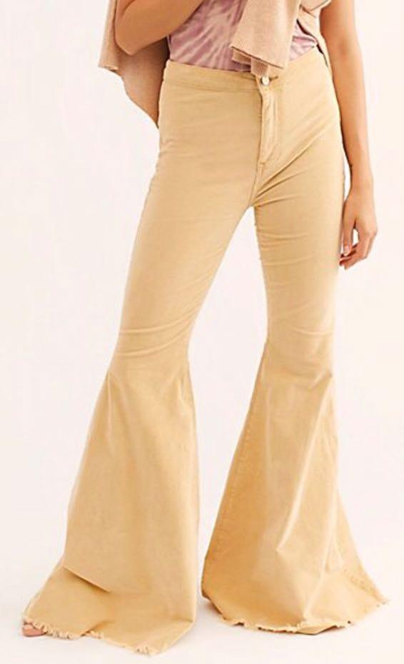 Free People Mustard Flare Pant