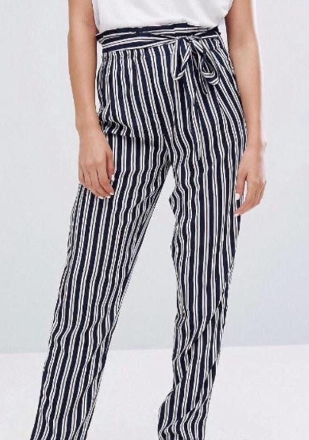 ASOS Stripe Pant With Tie Waist