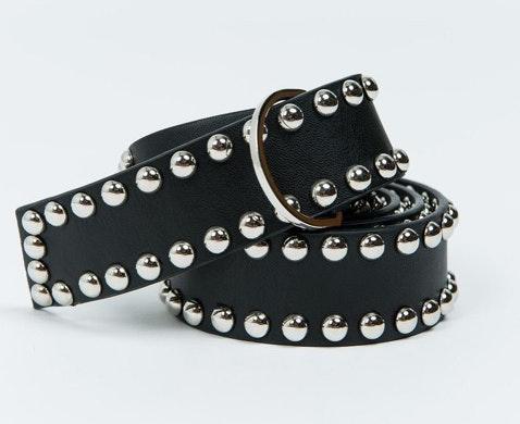 Princess Polly Black/Silver Studded Belt