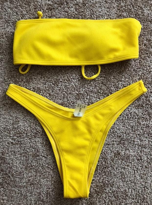 Zaful Yellow Bikini Set