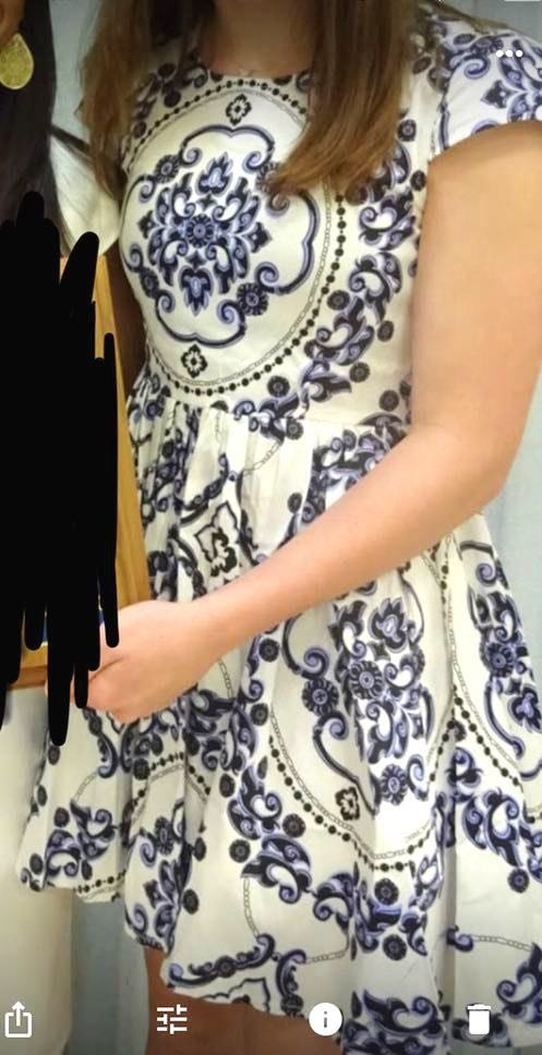 Xenia blue and white floral sundress