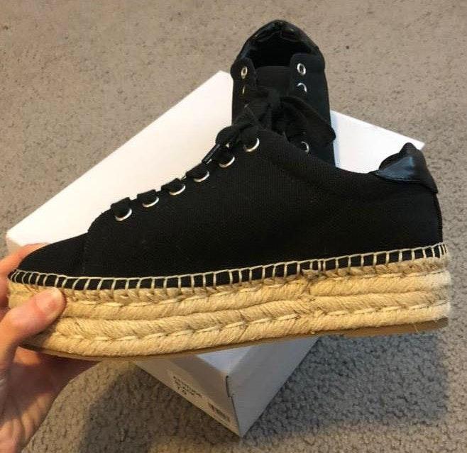 Steve Madden 'Attitude' Black Platform Sneakers