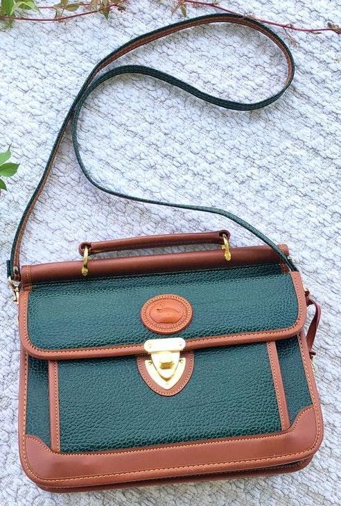 Dooney & Bourke Vintage Green/Camel Leather