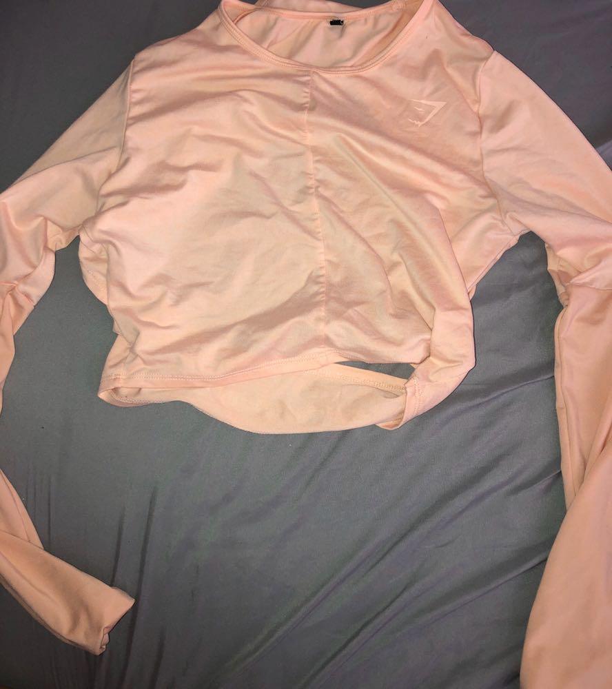 Gymshark Cross back Long sleeve Crop Top
