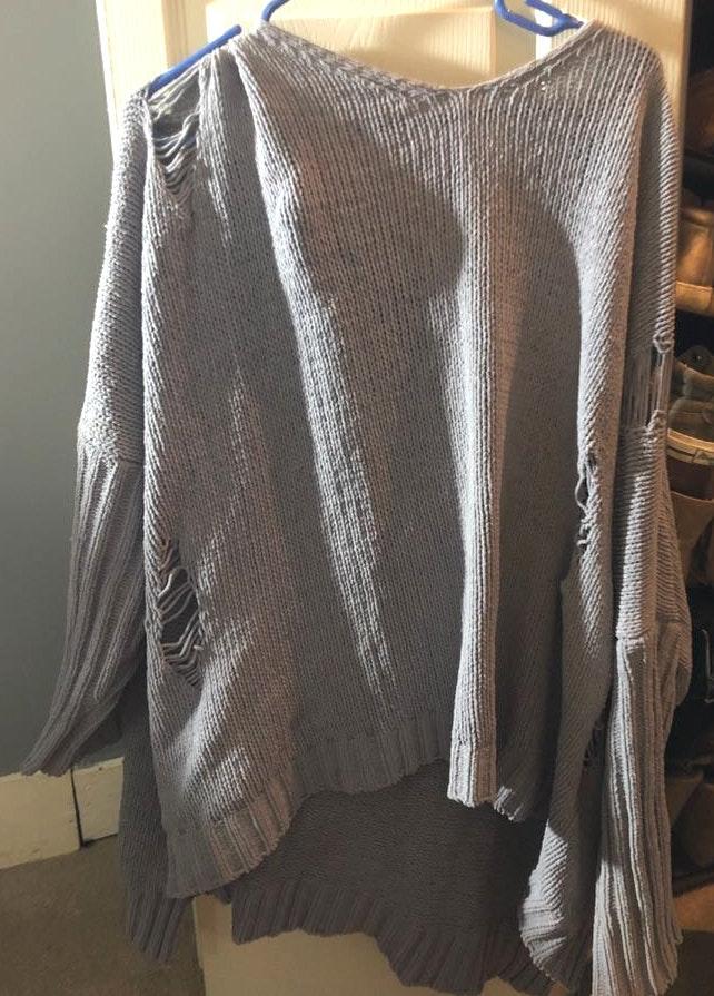 POL Distressed Sweater