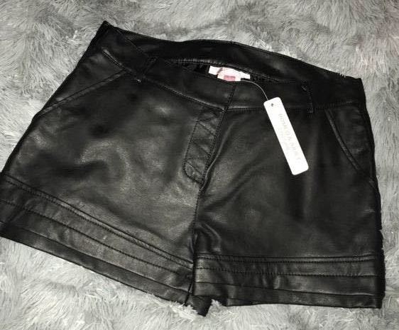 Romeo + Juliet Couture Faux Leather Shorts