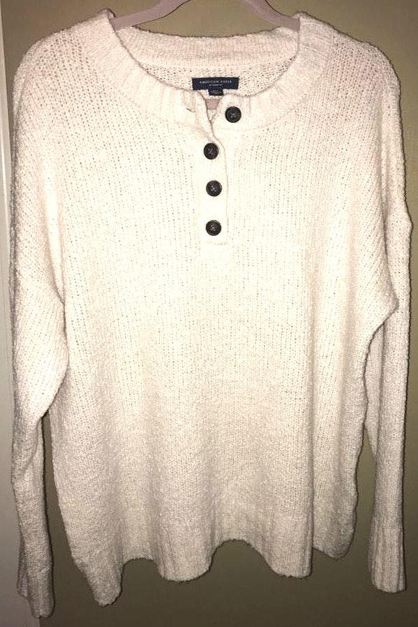 American Eagle Outfitters Oversized Button Sweater