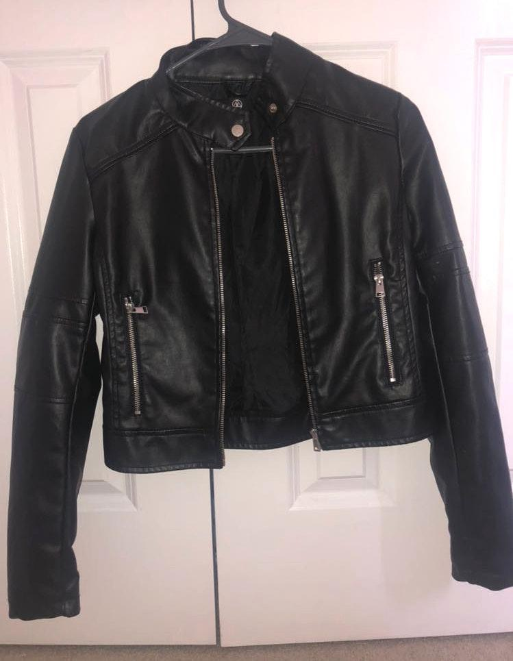 Missguided Black Leather Biker Jacket