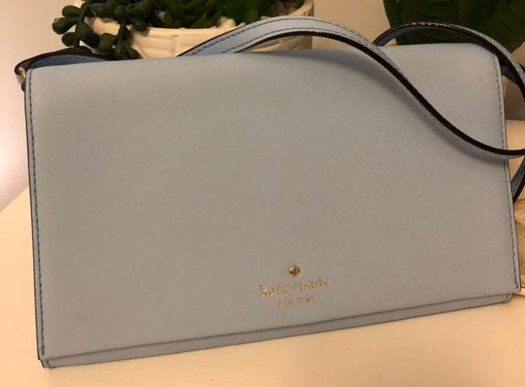 Kate Spade Light Blue Crossbody Purse