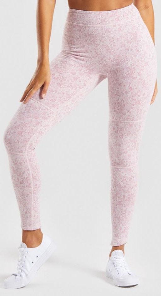 Gymshark Pink Marl Fleur Leggings!