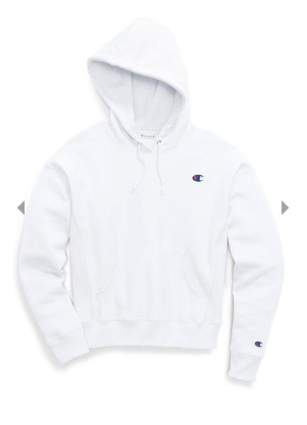 white champion sweatshirt