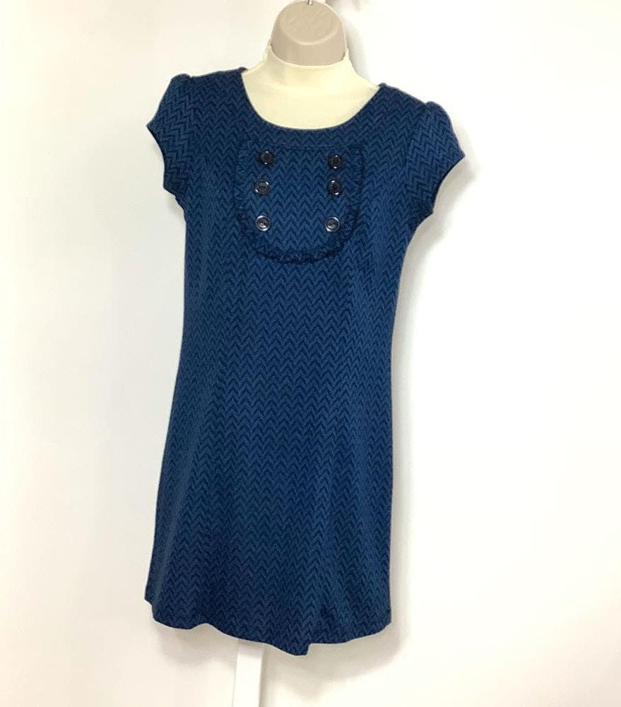 Bebop S Dress Chevron Print Blue Black