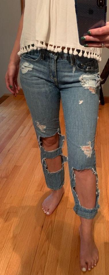 Carmar Denim Ripped Jeans