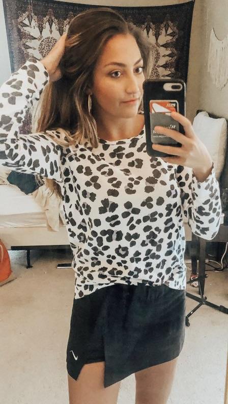 Sundry Cheetah Top