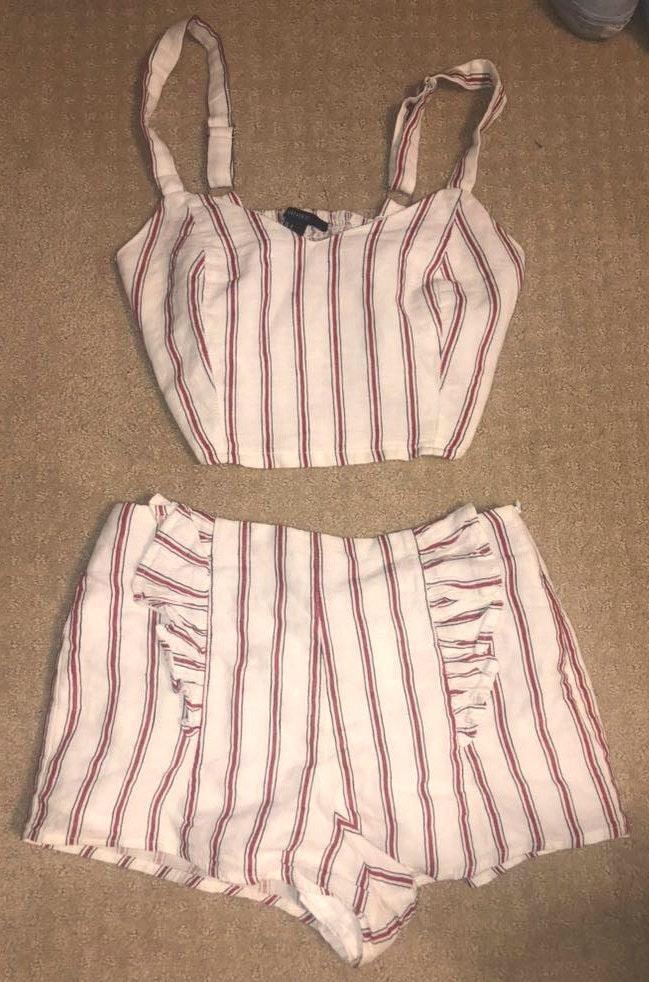 Forever 21 Striped Set