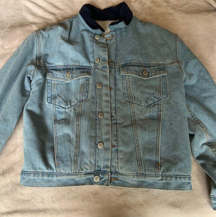 Brandy Melville Rare Jean Sherpa Jacket
