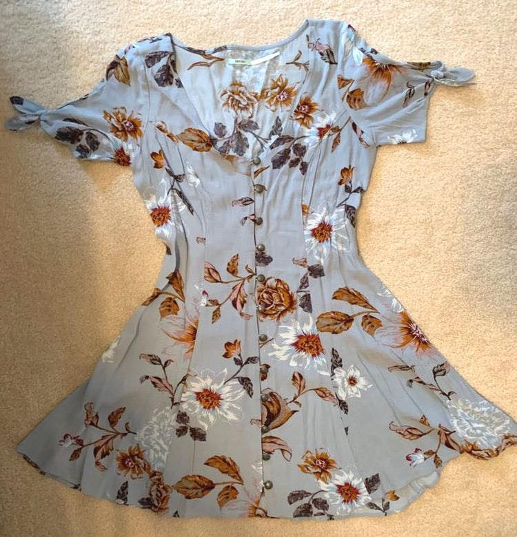 Urban Outfitters Light Blue Floral Dress
