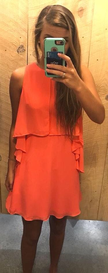 DO+BE Coral Ruffle Dress