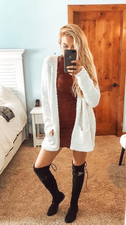 Cupio - White Sweater Cardigan