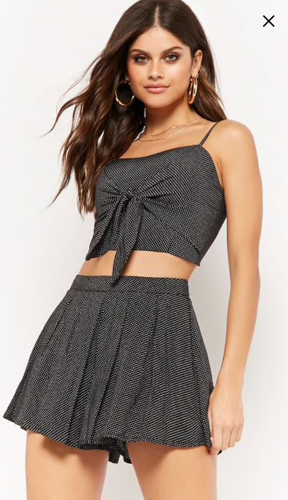 Forever 21 Tie Front Two Piece Set