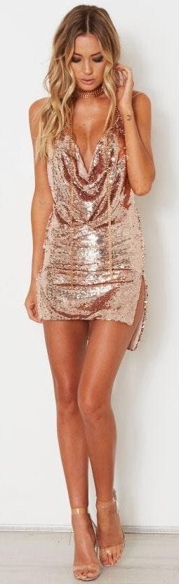 White Fox Boutique Hey Girl Sequin Dress