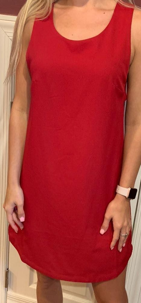 B.Original Red cutout dress