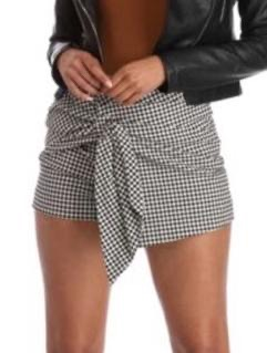 Windsor Tie Front Gingham Skort