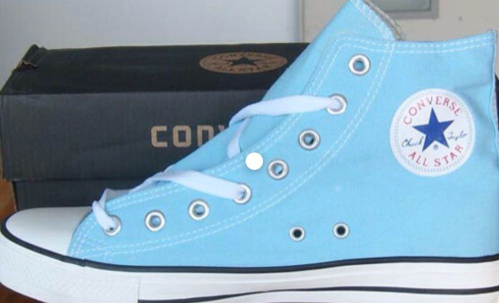 light blue converse high top