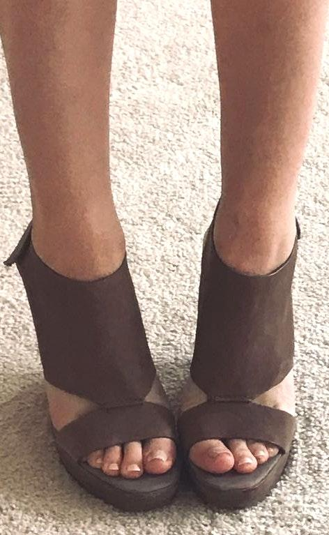 Vince Camuto Brown Leather Wedges