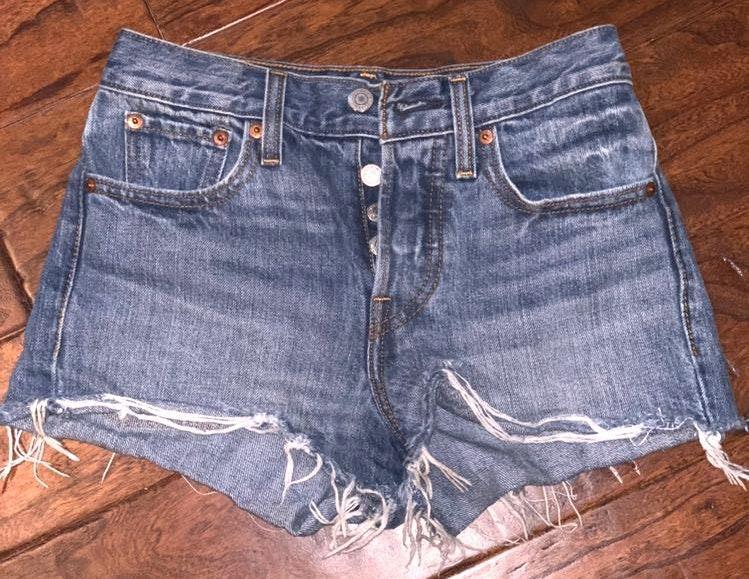 Levi's High Waisted Cheeky Shorts