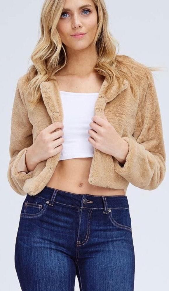 Emory park Faux Fur Cropped Jacket