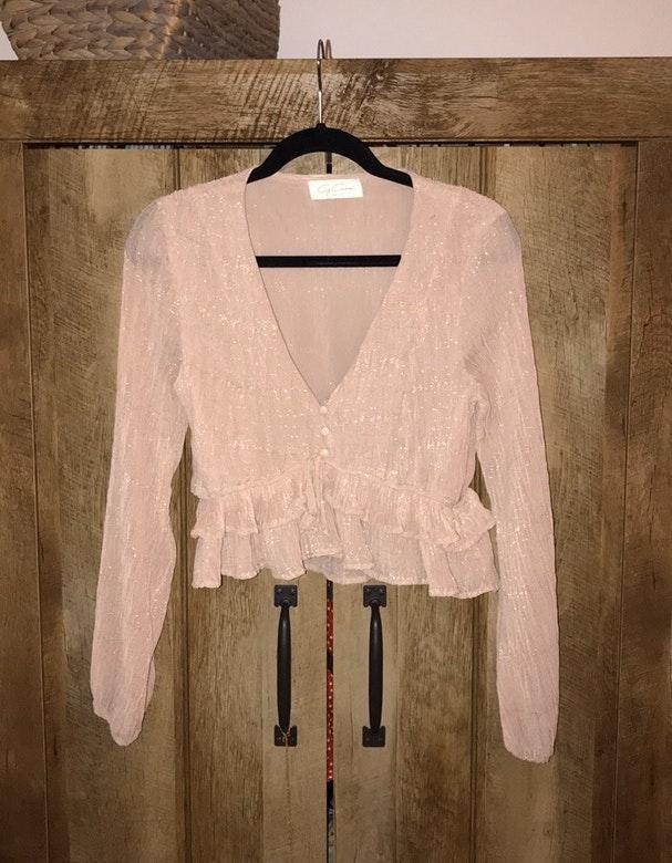 Light Pink Shimmer Top