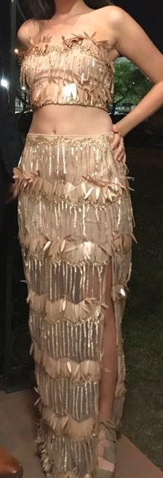 L'ATISTE 2 Piece Beaded Dress Set