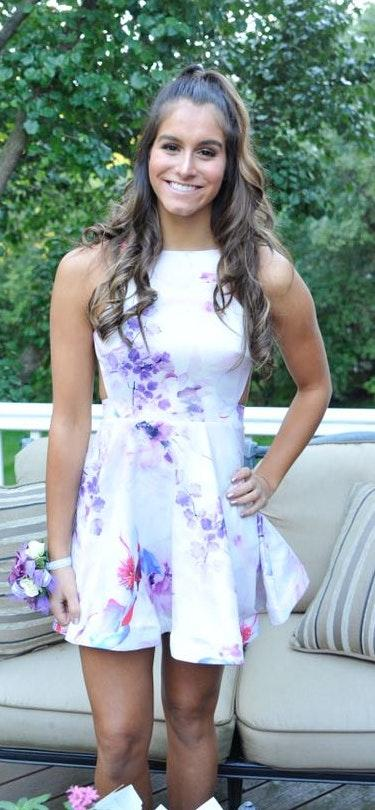 Xenia Floral Open Back Dress