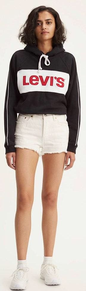 Levi's White Denim Shorts
