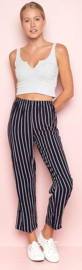 Brandy Melville Black&White Striped Pants