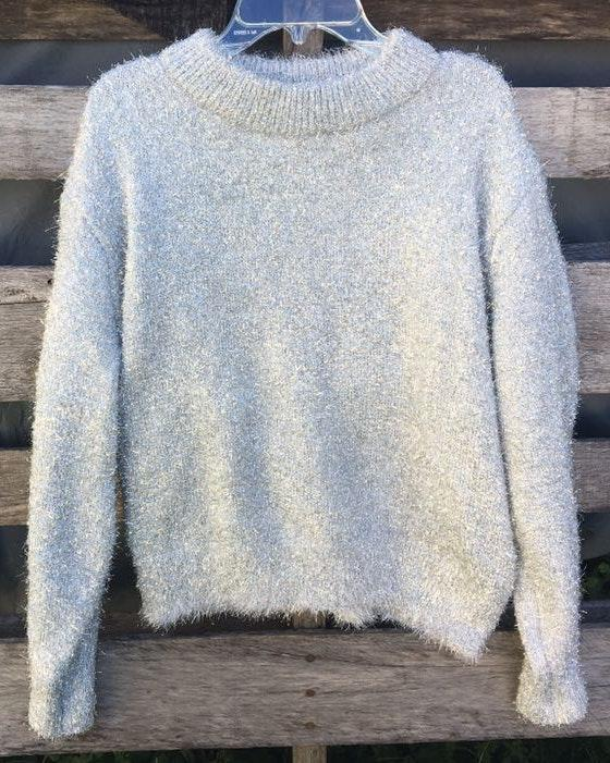 H&M Silver Sparkly Sweater
