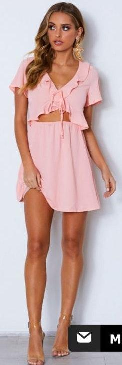 White Fox Boutique Simple Things Mini Dress Pink