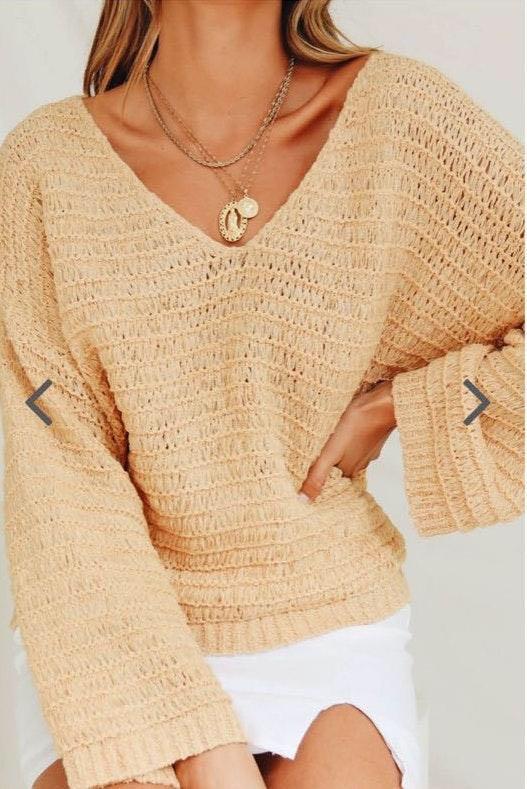 Verge Girl Sand Sweater