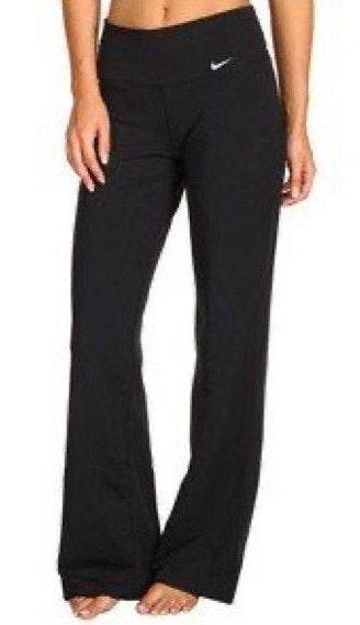 Nike Black Dry Fit Straight Leg Yoga Pants Curtsy