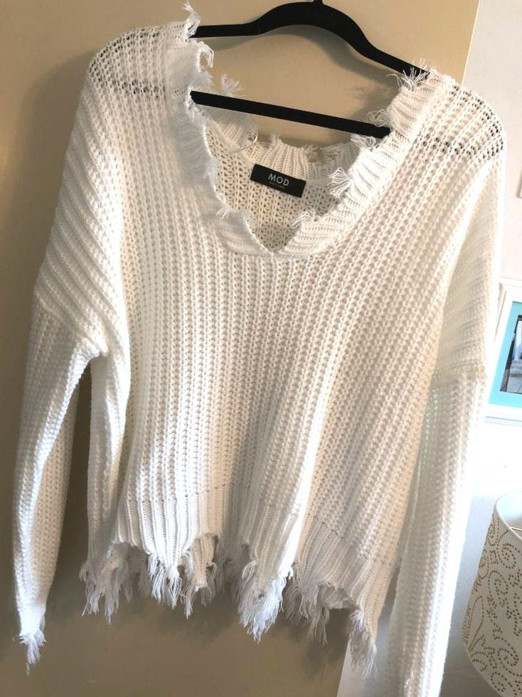 Mod Boutique White Sweater
