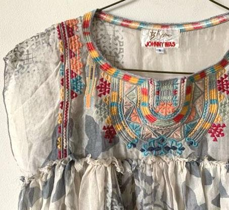 Johnny was Silk Embroidered Blouse