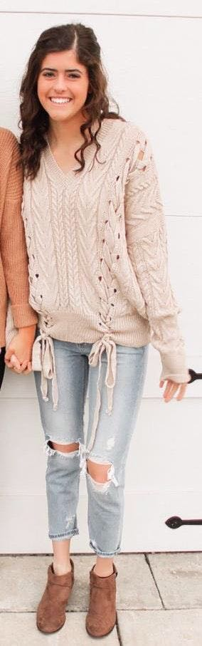 Boutique Cream Sweater